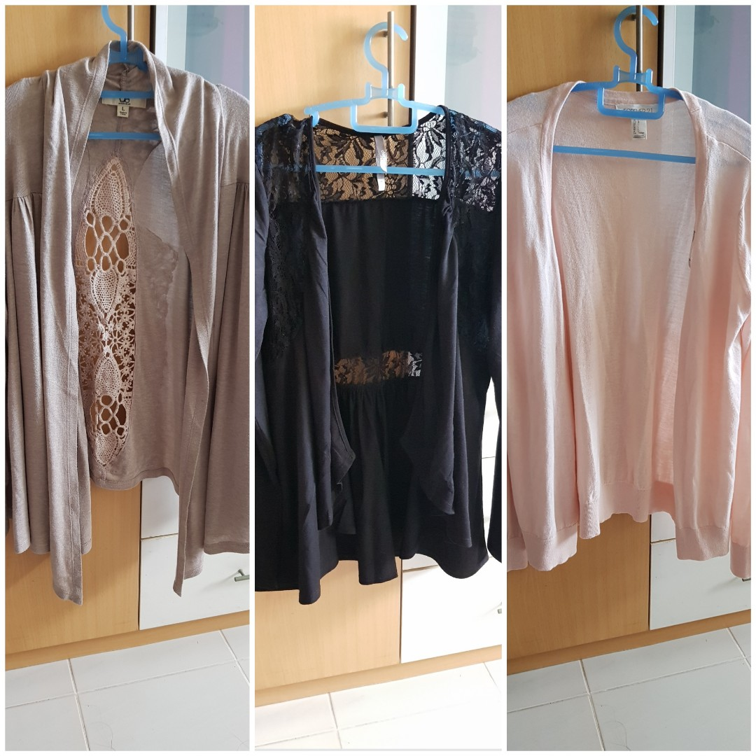 3 for 10 mailed - lace cardigans