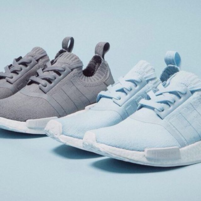 the best attitude f85da 5d6ba ADIDAS NMD R1 PK SKY BLUE, Women s Fashion, Shoes on Carousell