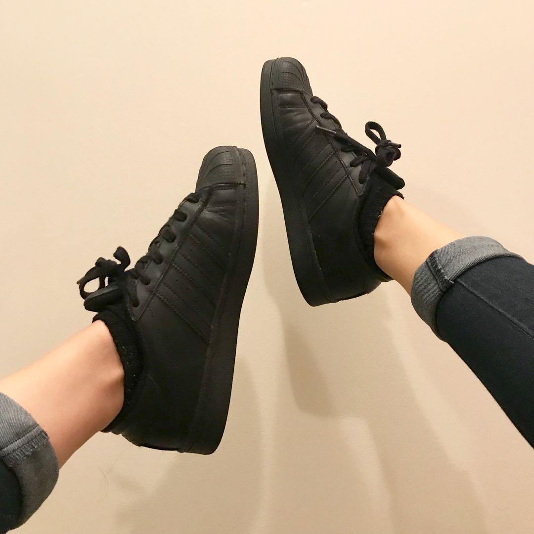 All Black Adidas Superstars