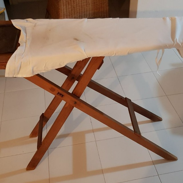 Antique Wooden Ironing Board Furniture Others On Carousell