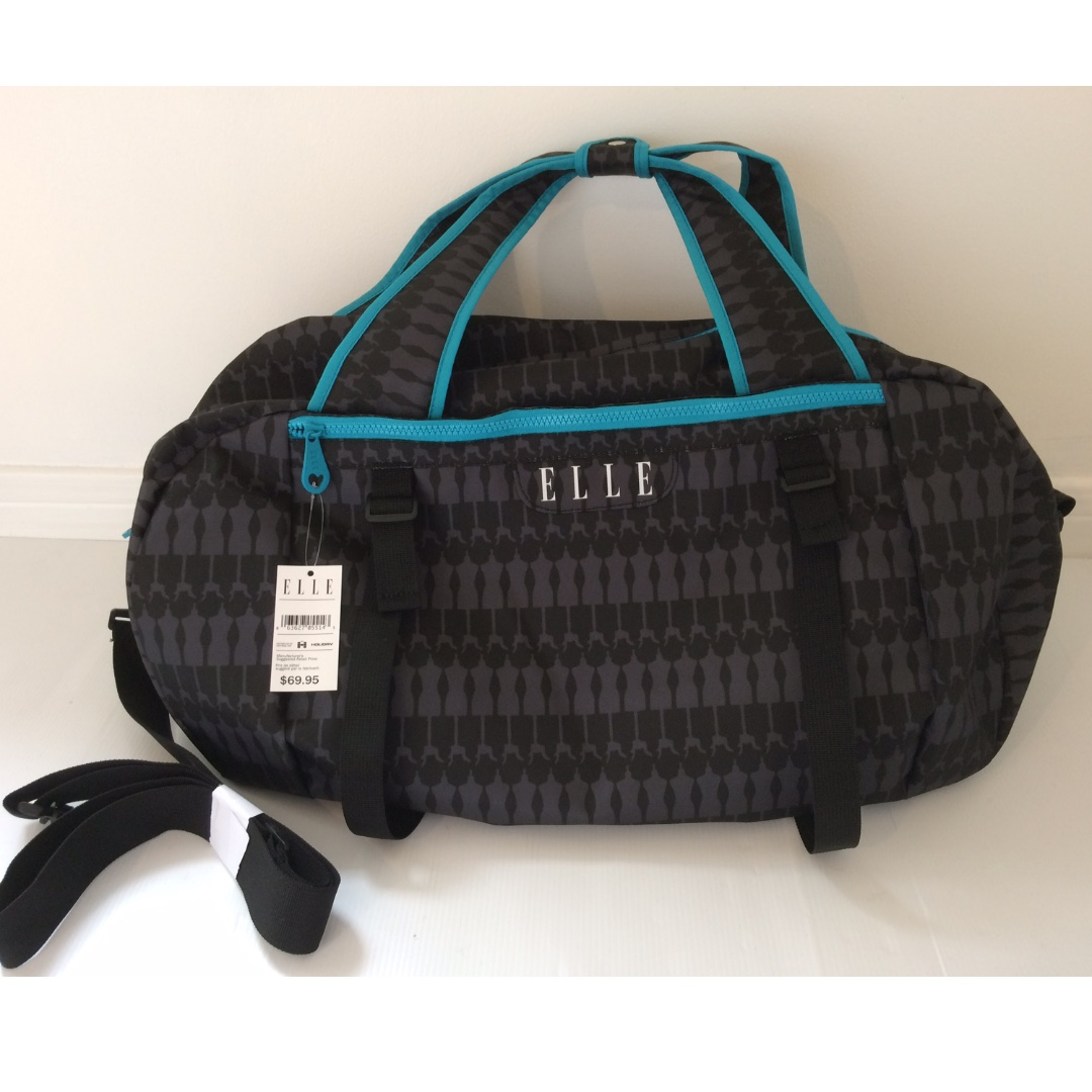 Authentic ELLE Gym/Travel Duffel Bag - RETAIL: $79