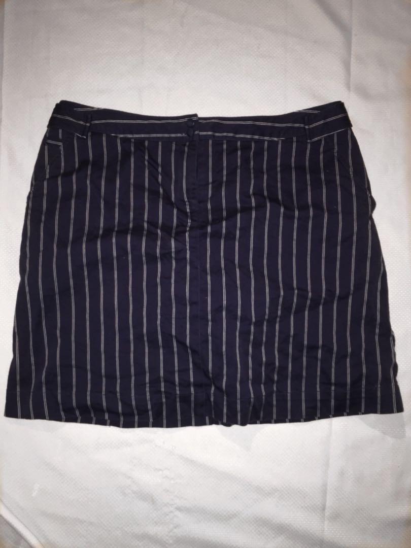 Blue Stripped Skirt