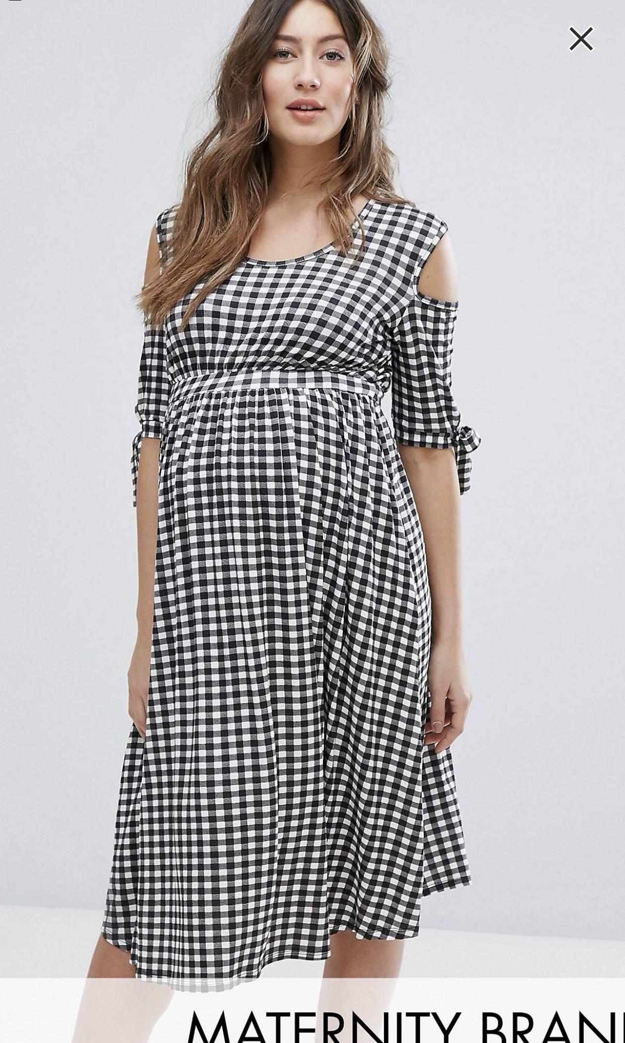 ee73836fcba Bluebell Gingham Maternity dress ASOS