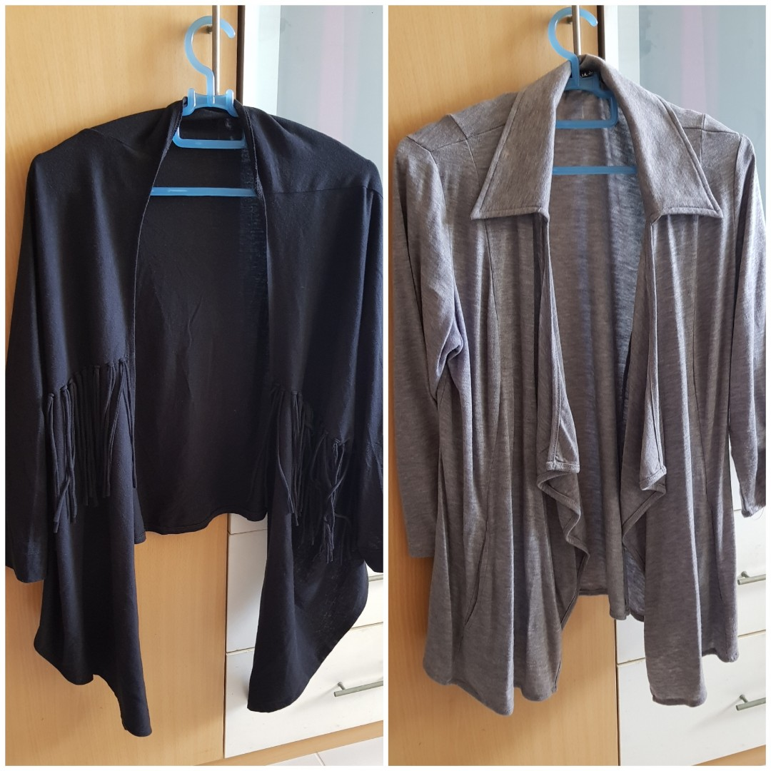 Both for $10 : Black and grey cardigan