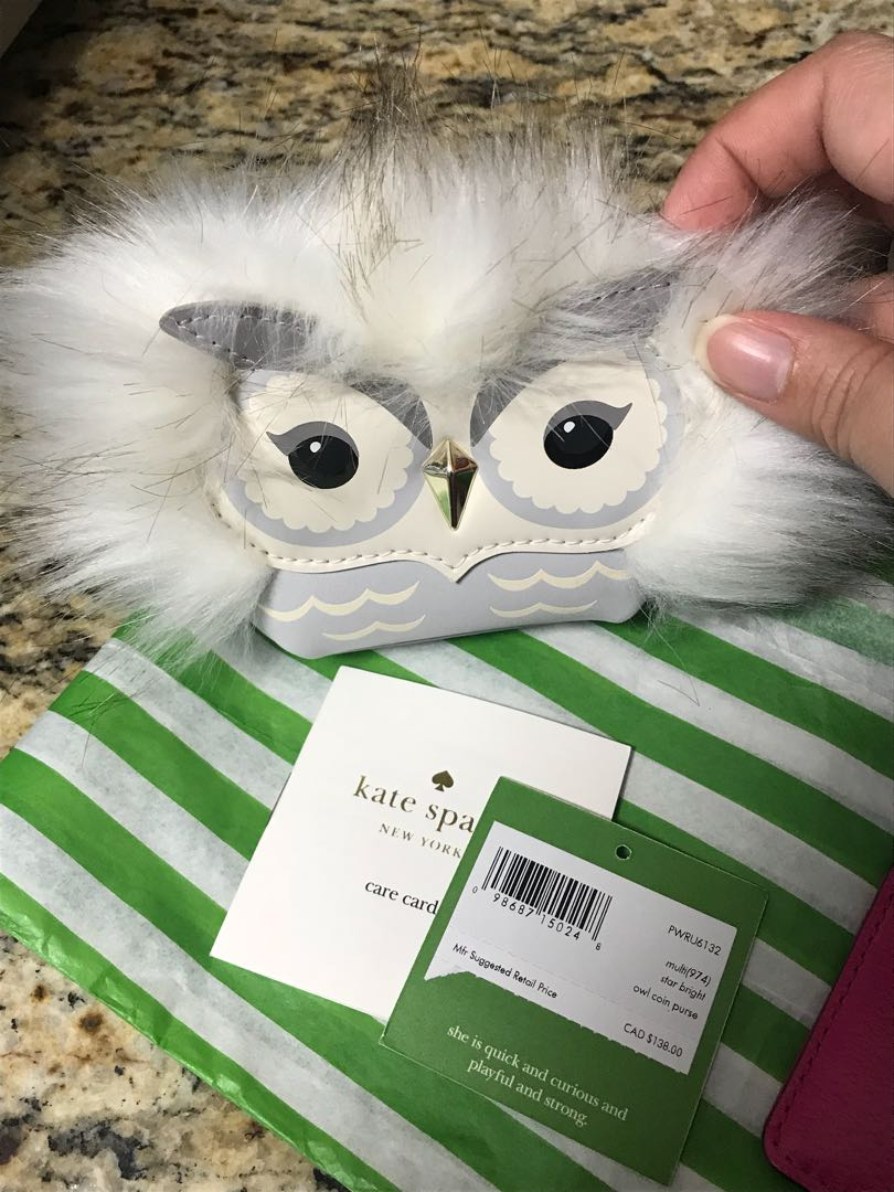 Brand new with tags Kate Spade Owl Coin Purse