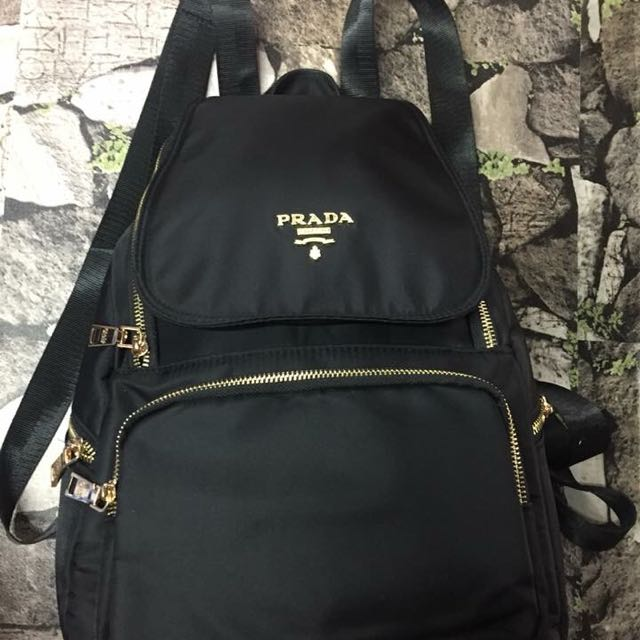 56a59850bf3c ... coupon code for authentic quality prada backpack black preloved womens  fashion bags wallets on carousell ac74f