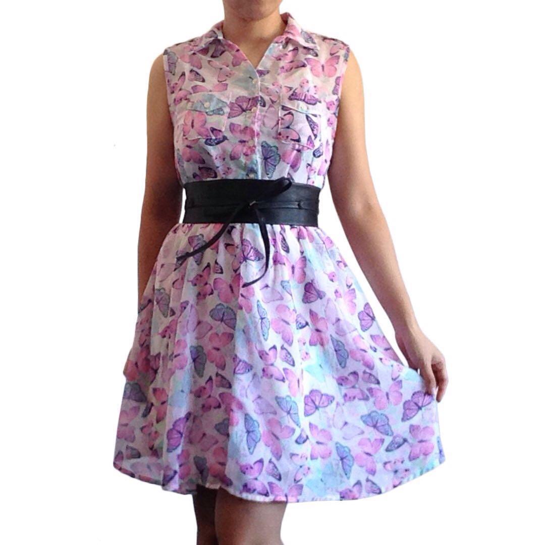 Butterfly Skater Dress