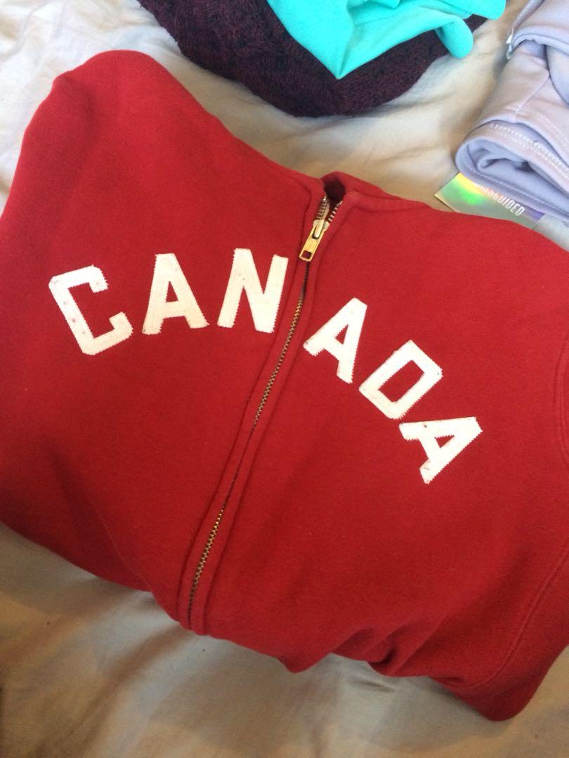 Canada Olympics zip hoodie