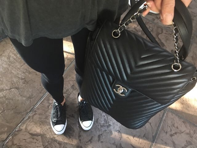 a4d9adce599f Chanel Backpack Urban Spirit Chevron #22, Women's Fashion, Bags & Wallets  on Carousell
