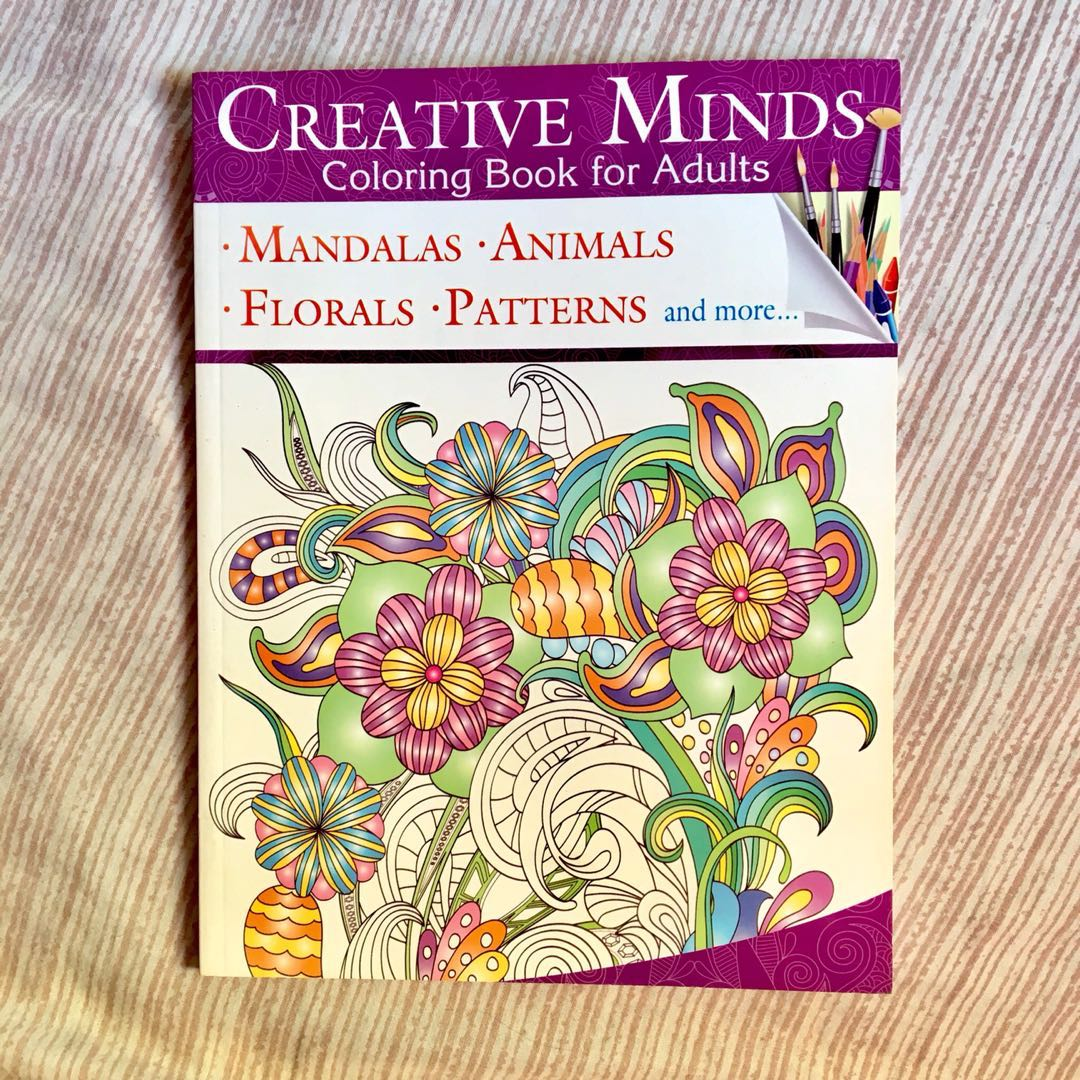 Creative Minds Coloring Book For Adults Books Magazines Others
