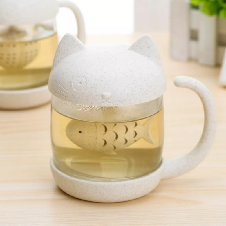 Creative Tea Strainer Cat Monkey Tea Infuser Cup Grasses mug Teapot Teabags for Tea & Coffee Filter Drinkware Kitchen Tools