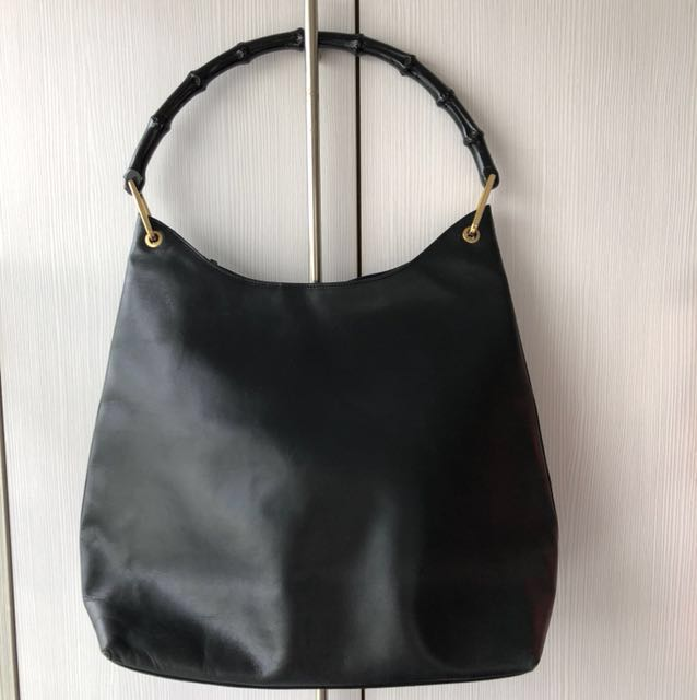 0b3c96720d1ce Gucci Leather Bamboo Shoulder Bag