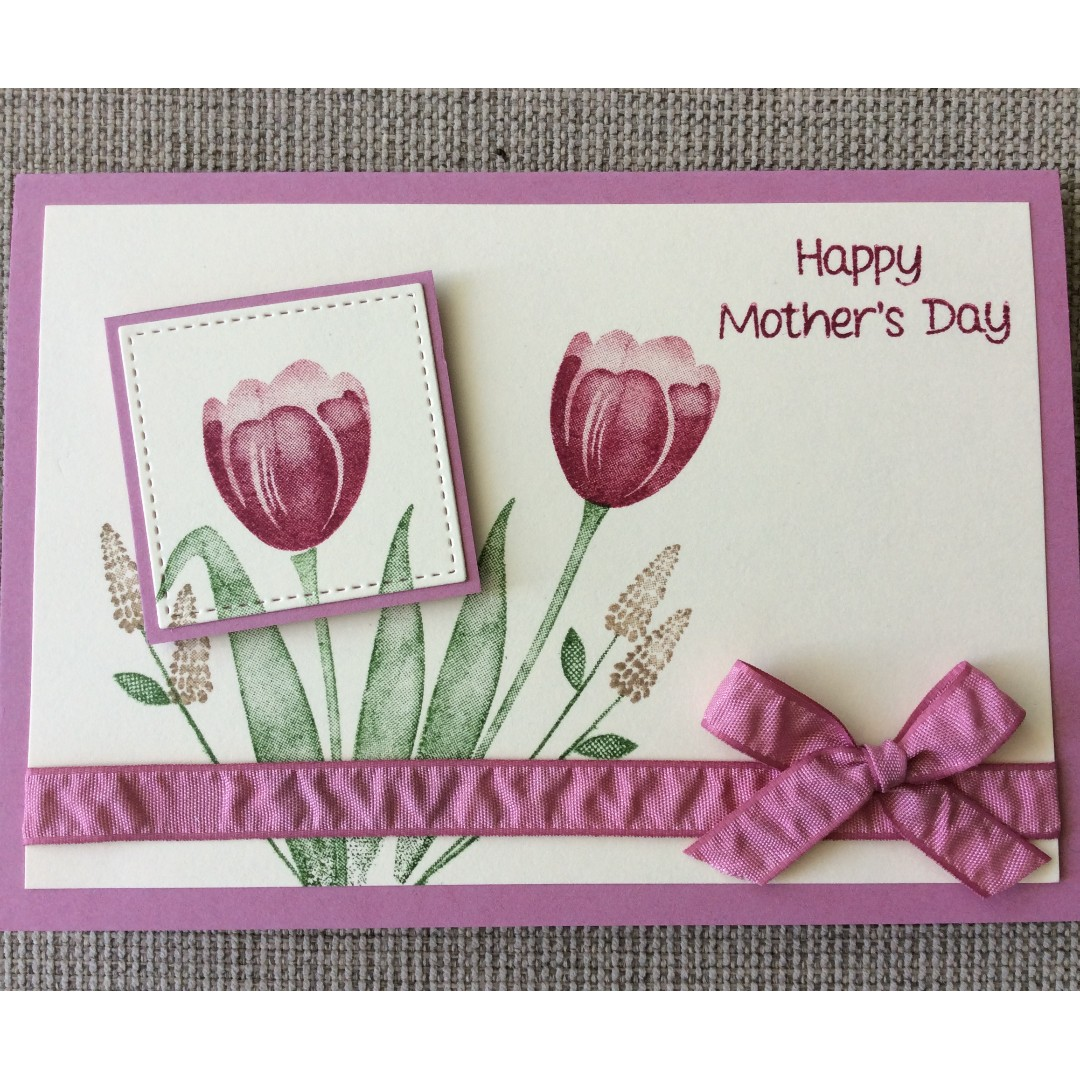 Handmade Tulips Mother's Day Card