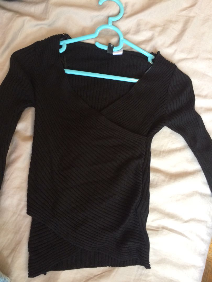 H&M Wrap body long sleeve