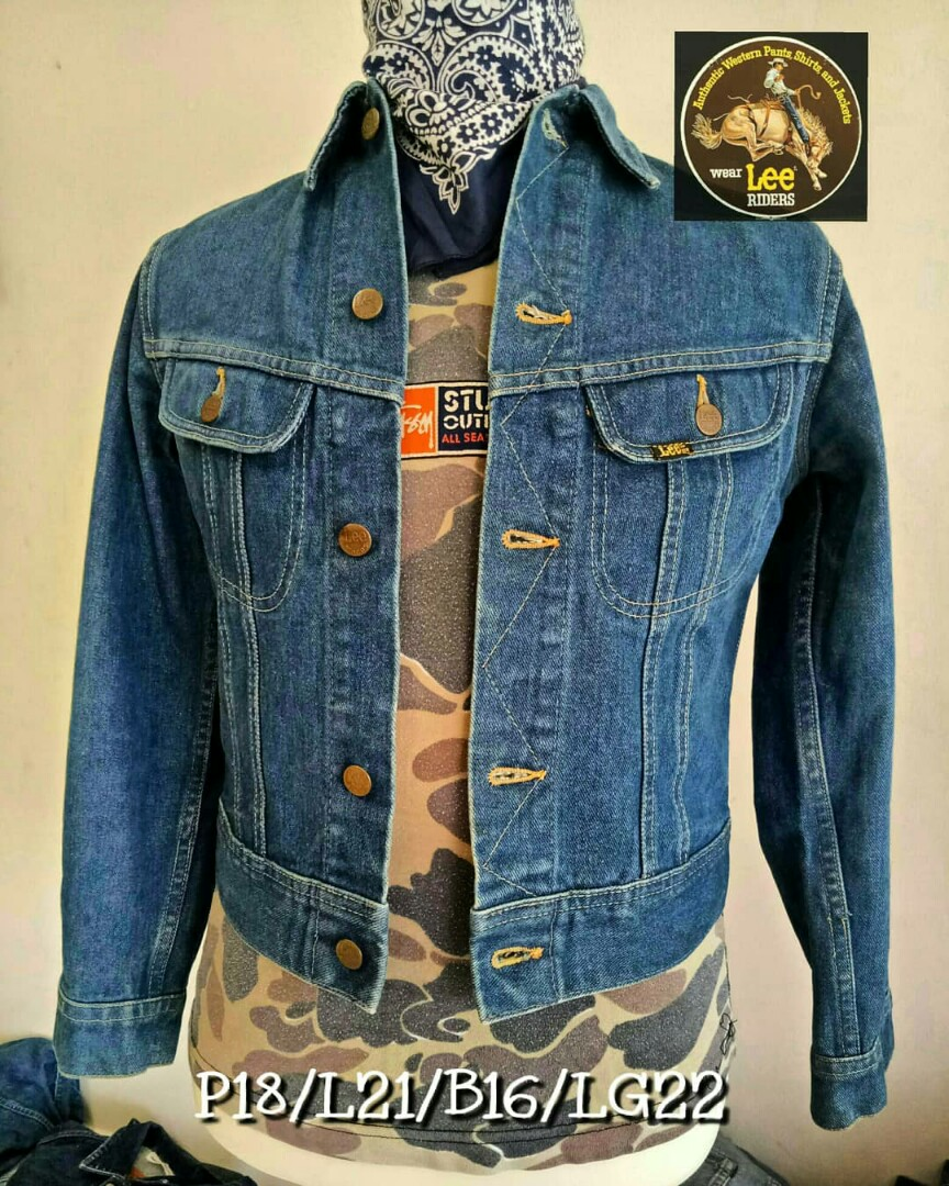 4ade9fcd884 Jeans Jacket Vintage Lee Riders USA