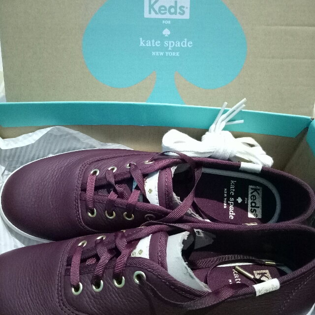 ea03a65a0607 Keds X Kate Spade New York Champion Leather Deep Cherry