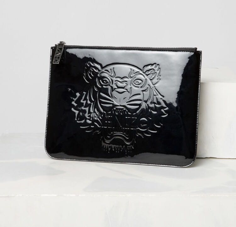 Kenzo black clutch pouch
