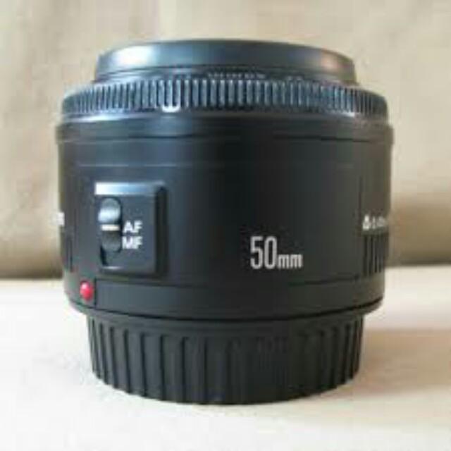 Lensa cannon 50mm f/1.8