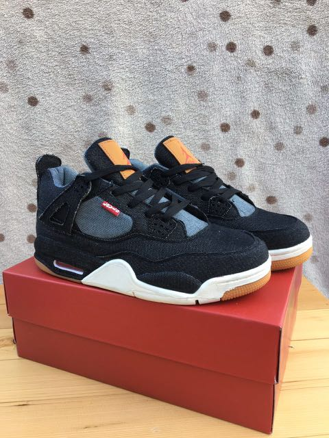 brand new 2ddad 547d6 Levis Air Jordan 4 Denim