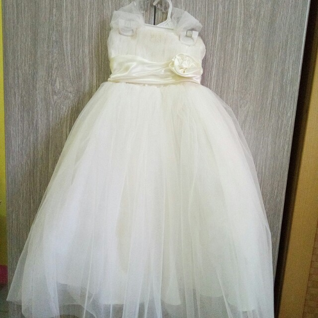 Little Bride Gown, Babies & Kids, Girl\'s Apparel on Carousell