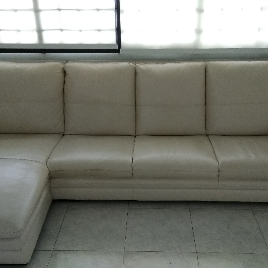 Moving out sale: Lorenzo full leather sofa 4 seater ...