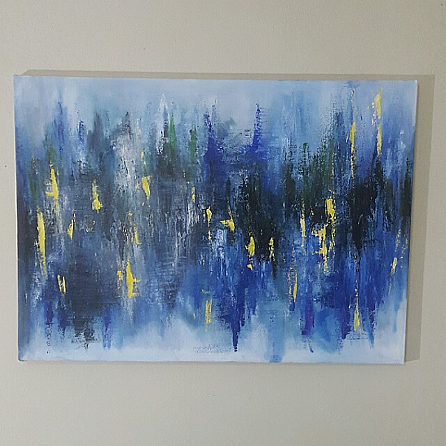 Lukisan Abstrak Abstract Painting Home Furniture On Carousell
