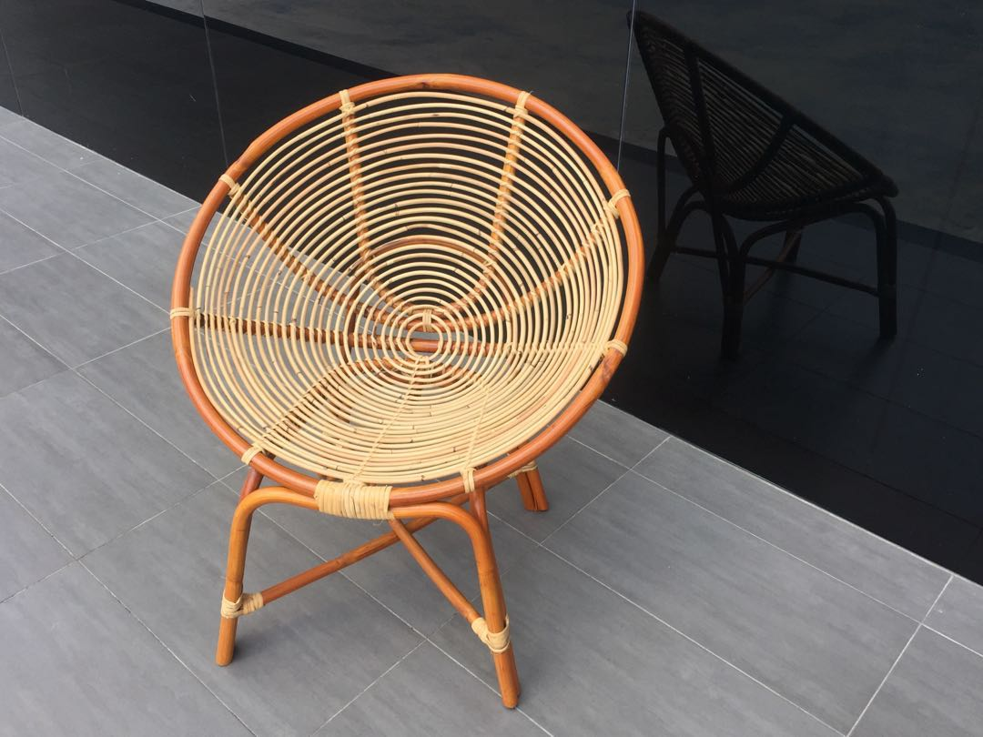photo photo photo & Melaka Cane Round Chair Home u0026 Furniture Others on Carousell