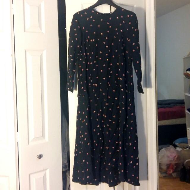 Navy Blue H&M long dress