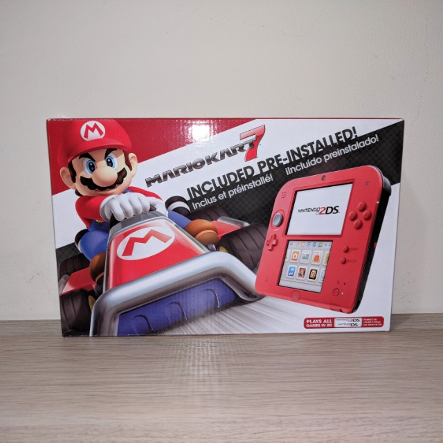 *REDUCED* Nintendo 2DS (Crimson Red), Smatree N98 Carrying Case (Black) + 10 Games!