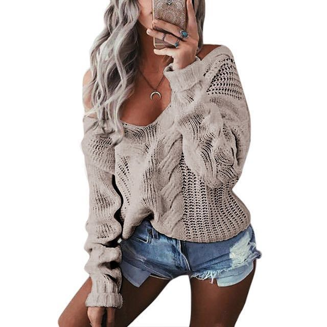 Off Shoulder Sexy Sweater