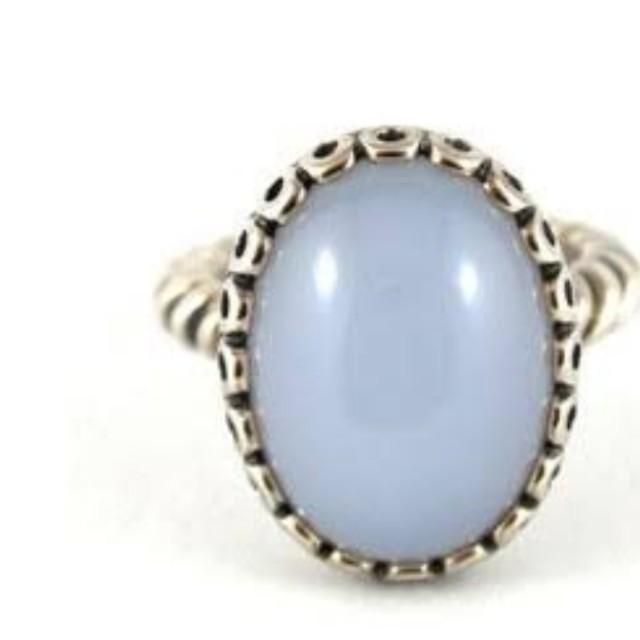 Pandora chalcedony ring size 54