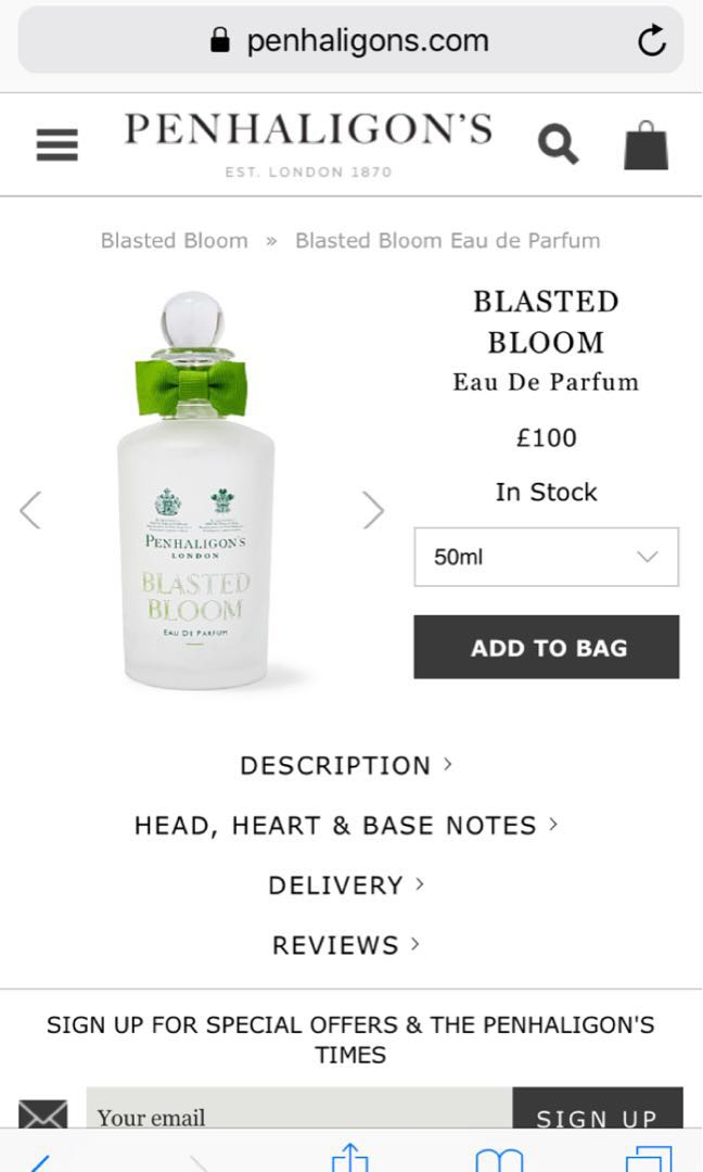Penhaligon's Blasted Bloom Perfume