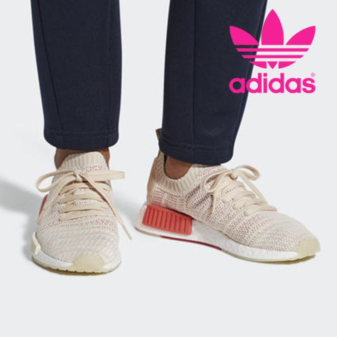 po) adidas donne nmd r1 stlt pk beige, di moda femminile, le scarpe