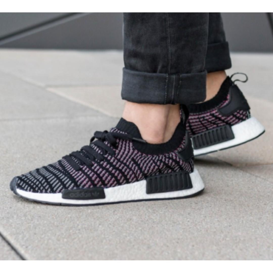 91e1b2f7f30b4 PO) Adidas Womens NMD R1 Stlt PK Black Solar Pink