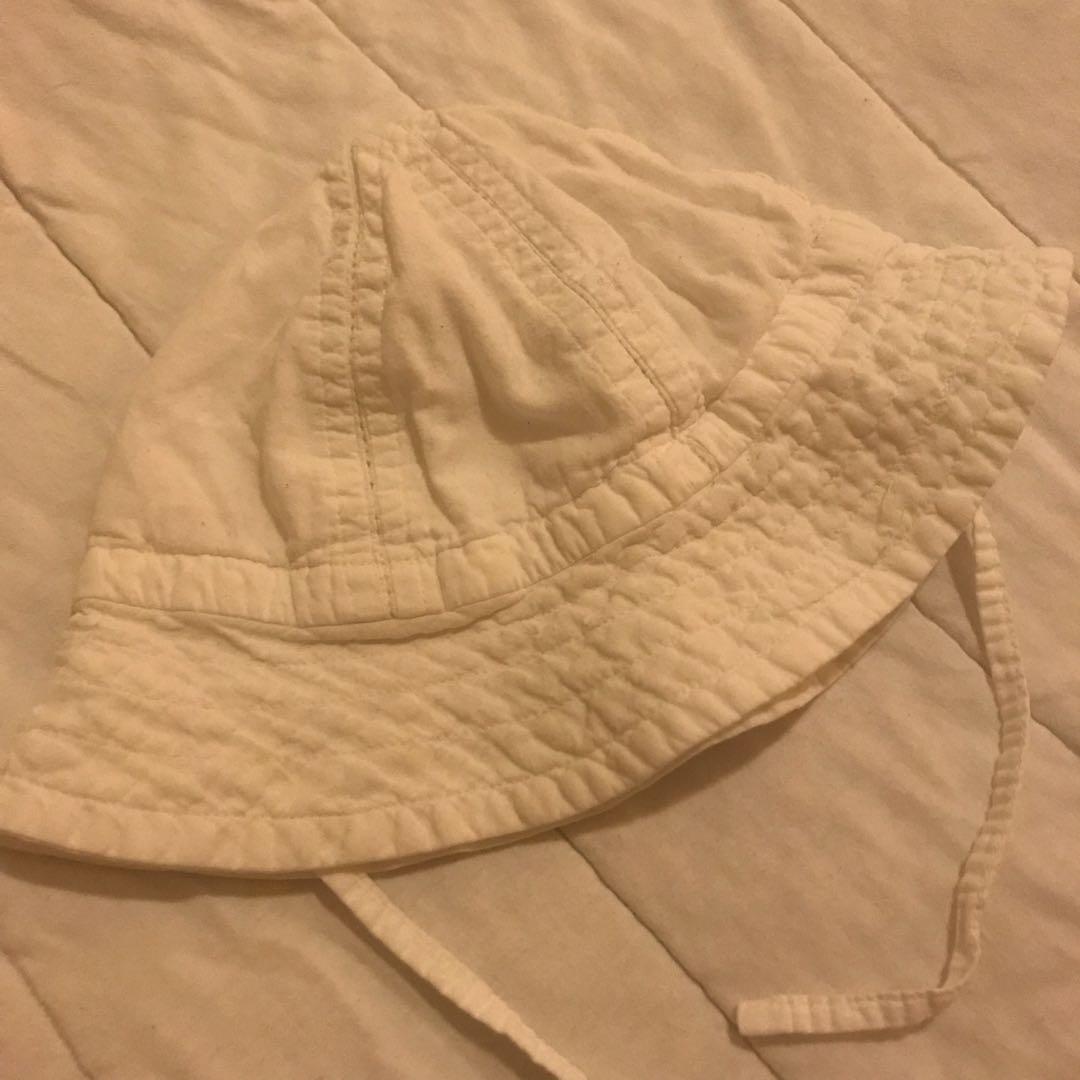 Purebaby White Hat - Size Medium