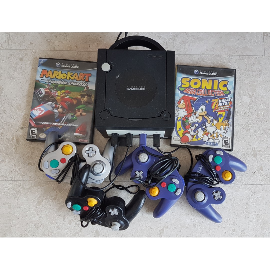 Rare Nintendo Gamecube Bundle Mario Kart Double Dash Rare 4 Controllers Memory Card New Power Cord Video Cable Home Appliances Tvs Entertainment Systems On Carousell