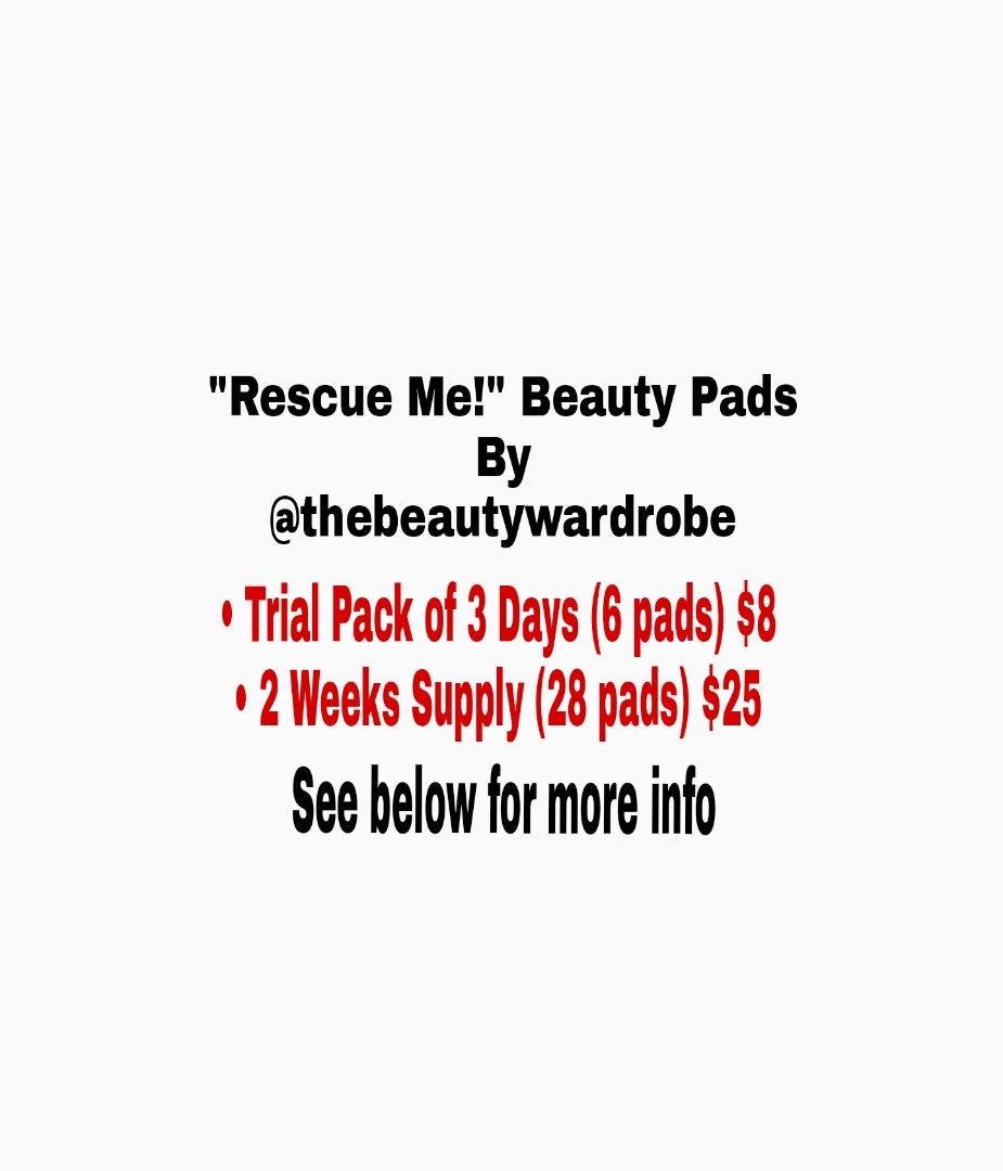 """""""Rescue Me!"""" Beauty Pads"""