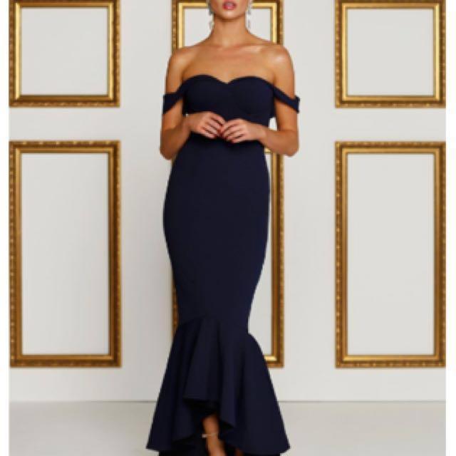 Sappire Off-Shoulder Ball Dress