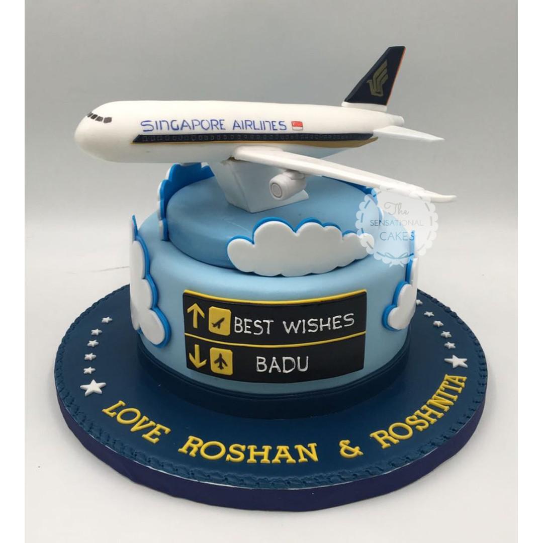 Singapore Airlines Changi Airport Airplane Theme Cake Singaporecake