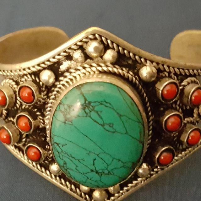 south western open back cuff bracelet