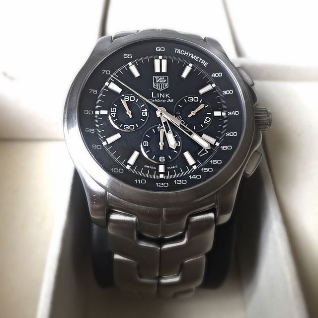 8111f96f102 Tag Heuer Link Calibre 36, Luxury on Carousell