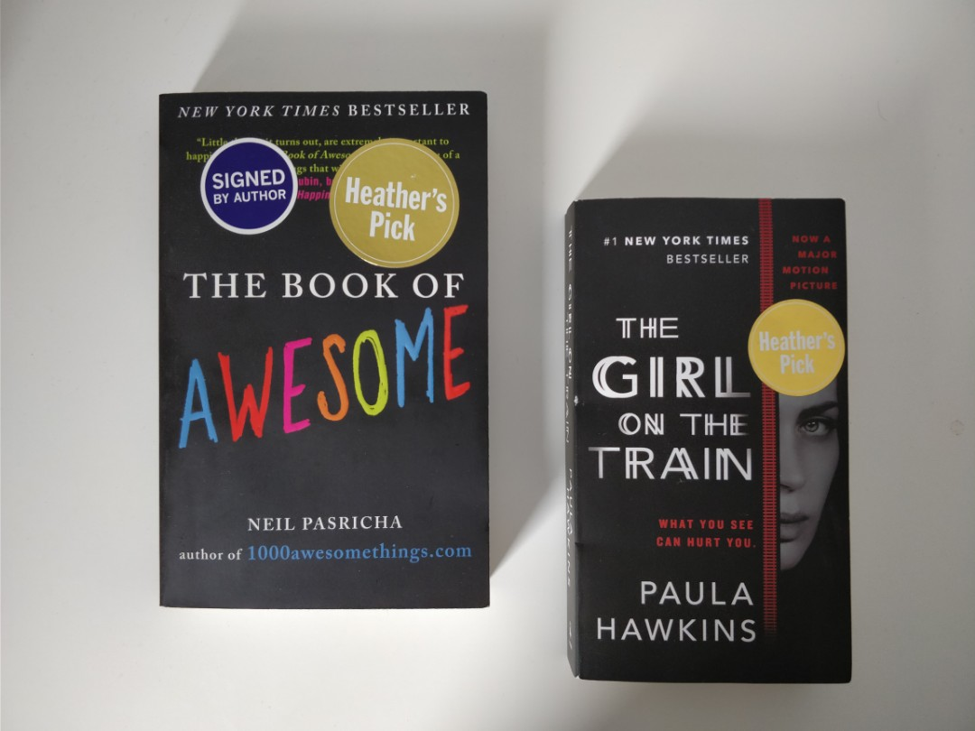The Girl on the Train & The Book of Awesome ($5/each)