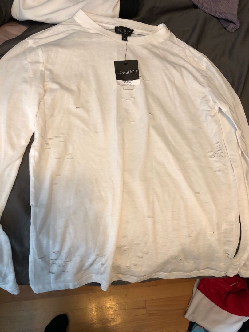 Topshop Ripped Long sleeve