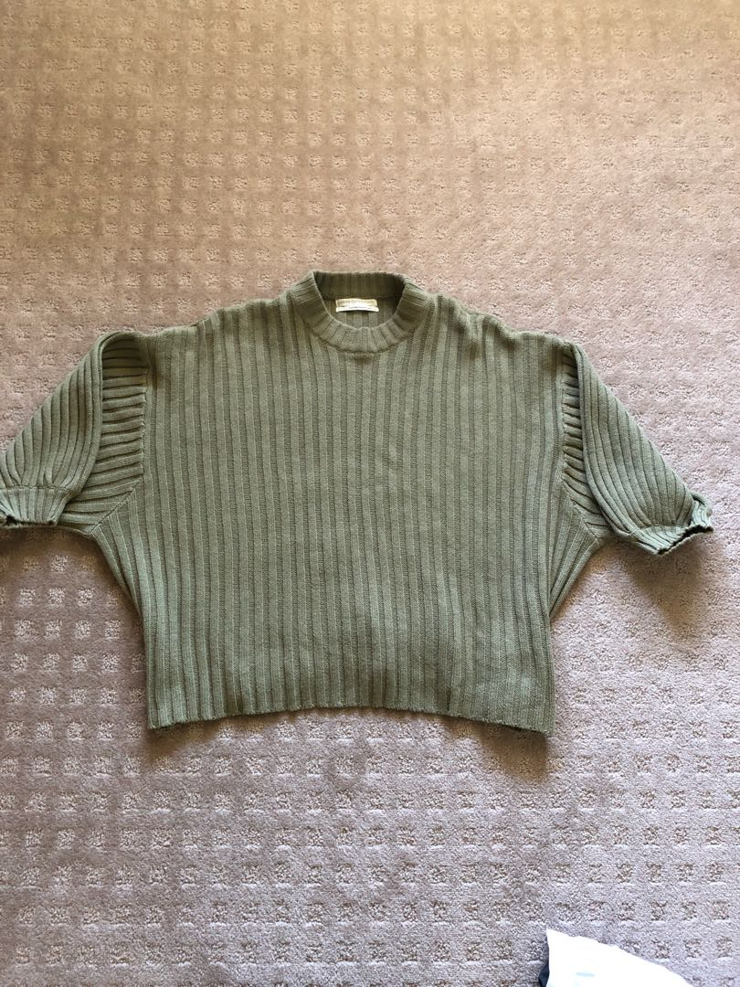 Urban outfitters khaki knitted jumper