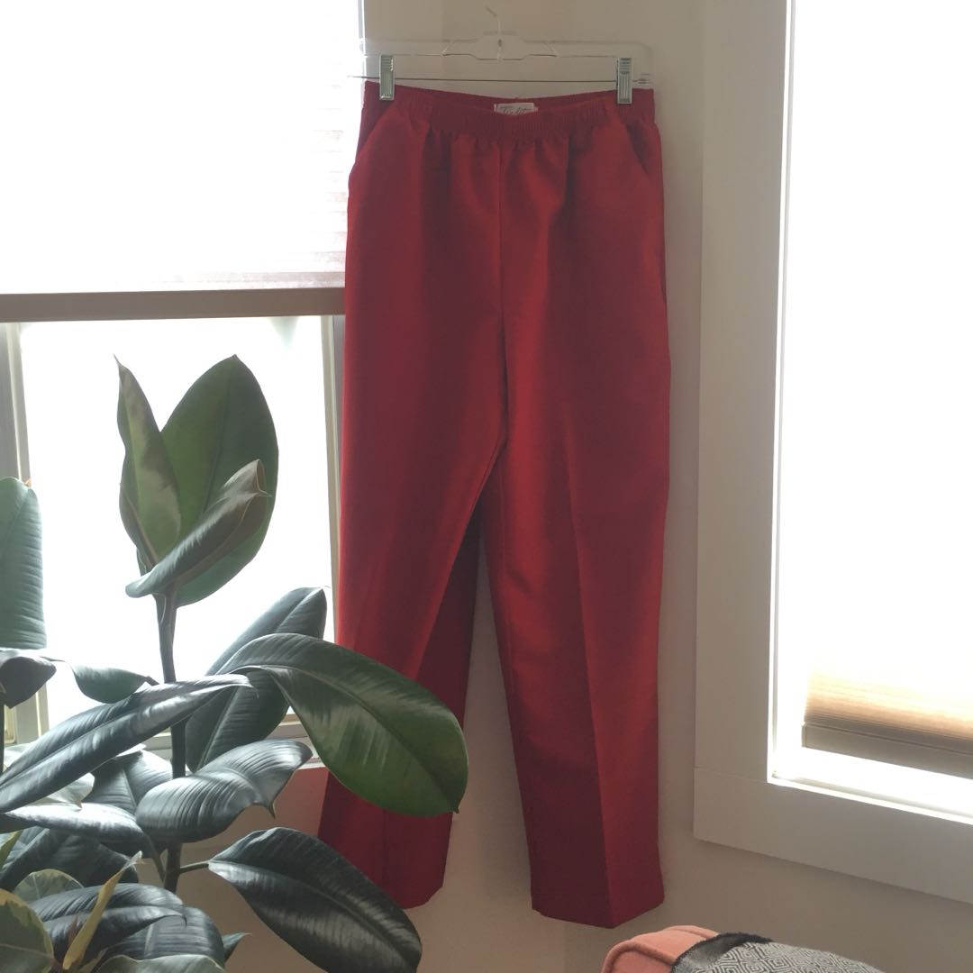 Vintage red trousers