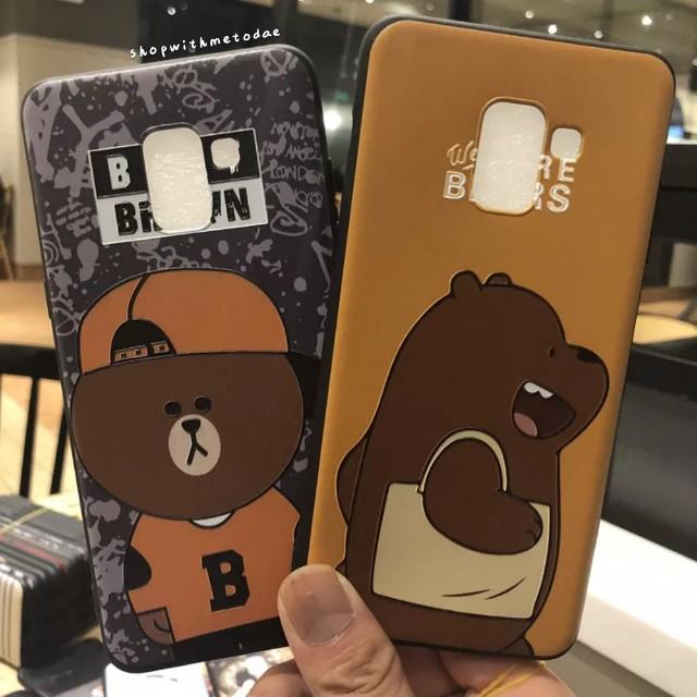 new arrival 3eaf9 3f11b We Bare Bears Pooh Pug Samsung S9 / A8 Plus 2018 casing