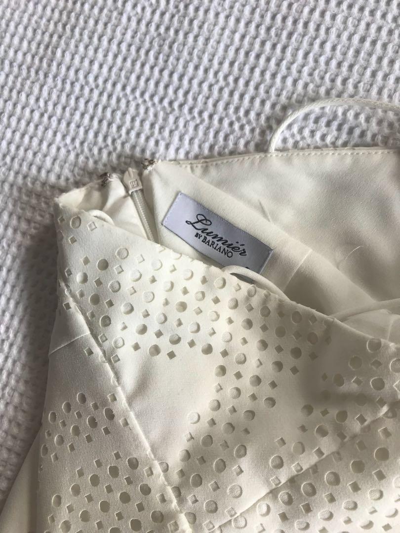 White backless ball dress