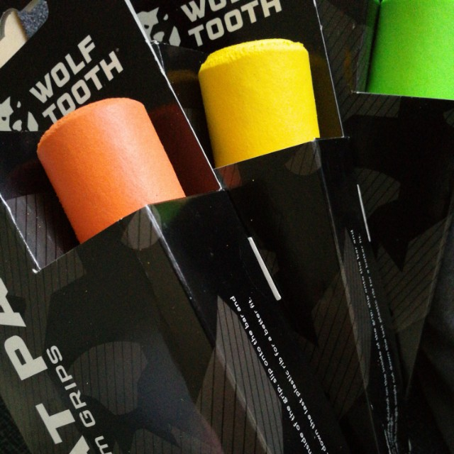 Orange Wolf Tooth Components Fat Paw Grips
