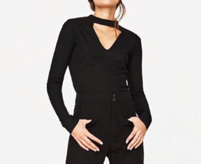 Zara Black Choker cut top