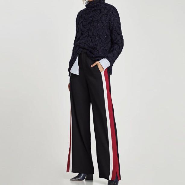 Zara trousers w/ side stripe